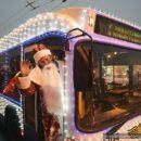 В Гомеле появился новогодний троллейбус