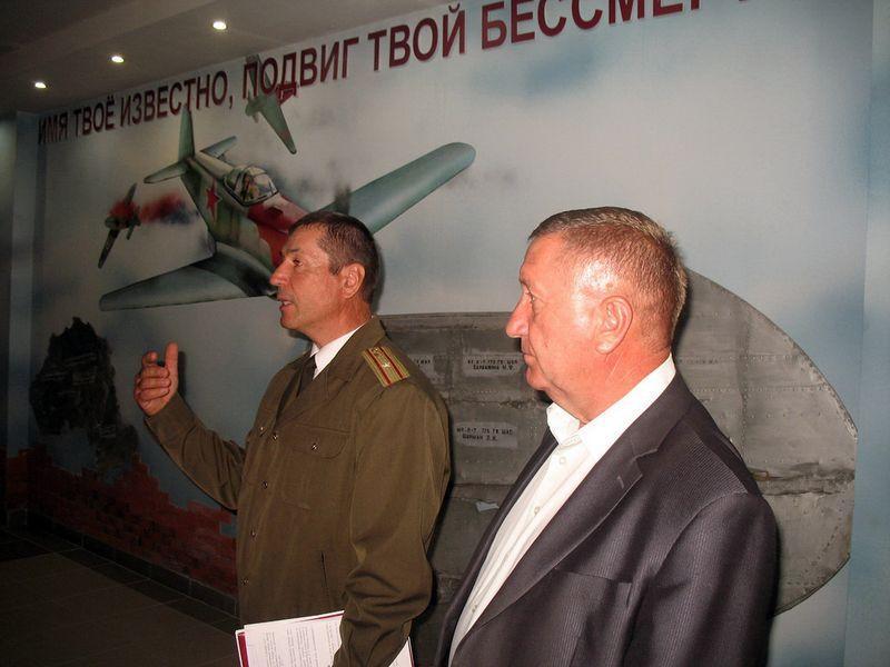 В лицее строителей почтили память легендарного летчика Головачёва
