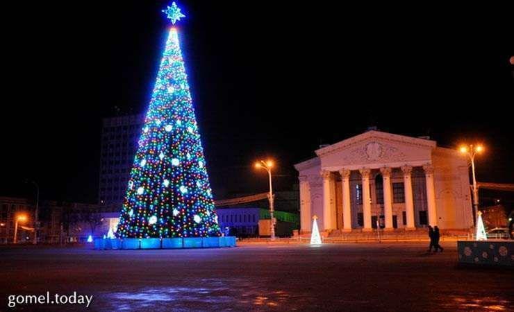 15 декабря в Гомеле зажгут главную городскую елку