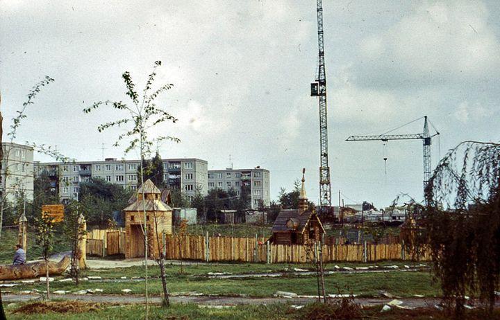 Дзіцячы казачны гарадок на вуліцы Юбілейнай. 1980-я гг.