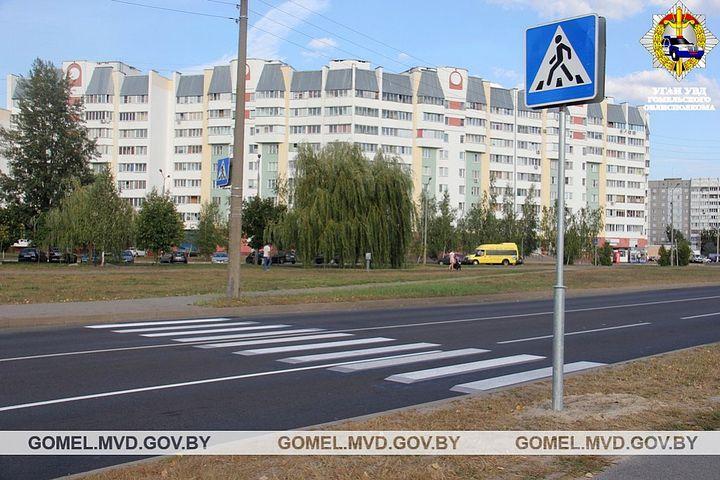 В Гомеле появился первый пешеходный переход, выполненный в технике 3D