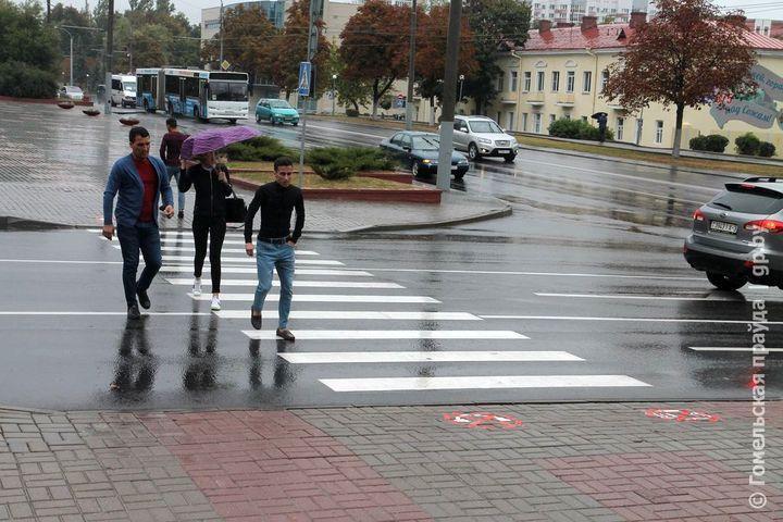 В Гомеле появились «послания» пешеходам на дороге
