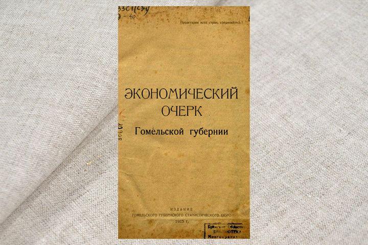 Экономический очерк Гомельской губернии. 1925