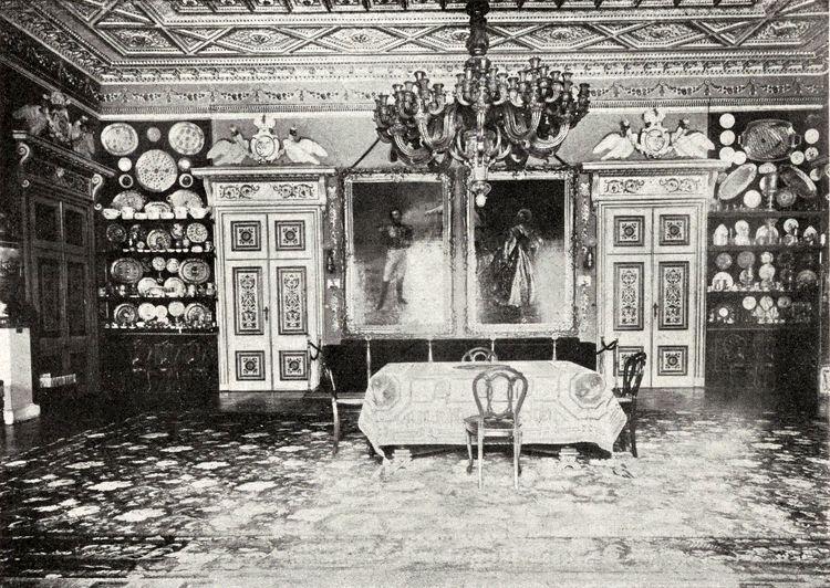 Столовая в Гомельском дворце.