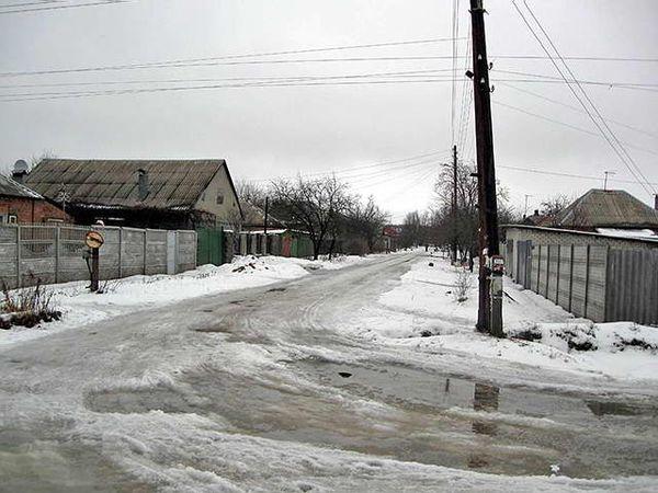 Улица Гомельская в Харькове (Украина)