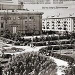 Вид на сквер у драмтеатра. Советская Трудовая 50-60-е.