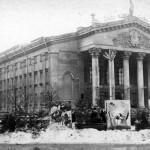 Здание драматического театра, зима 1959. Фото из архива Дымма А.Н.