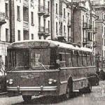 Первый троллейбус на проспекте Ленина, 1962 год