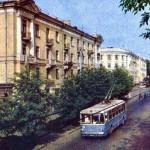 Улица Советская на открытке 1965 года