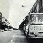 Икарус-260 на проспекте Ленина, 1978 год.