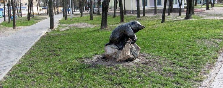 Скульптура «Кроты» в Гомеле