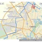 Схема маршрута 25-Т