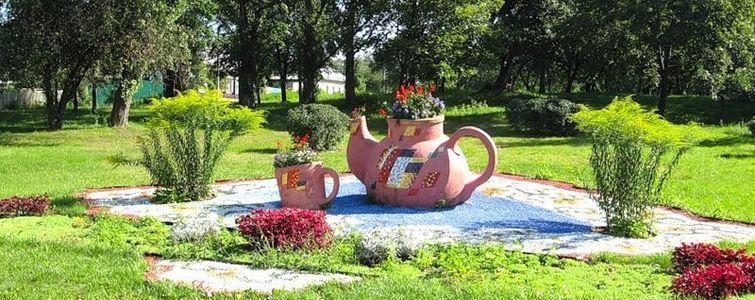 Скульптурная композиция «Цветочный чай»
