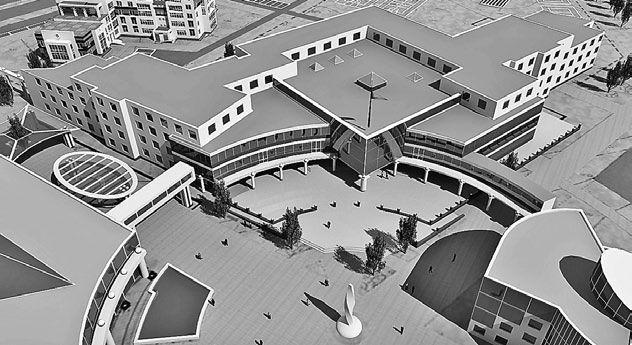 Проект средней Проект средней общеобразовательной  школы общеобразовательной  школы в 18-м микрорайоне