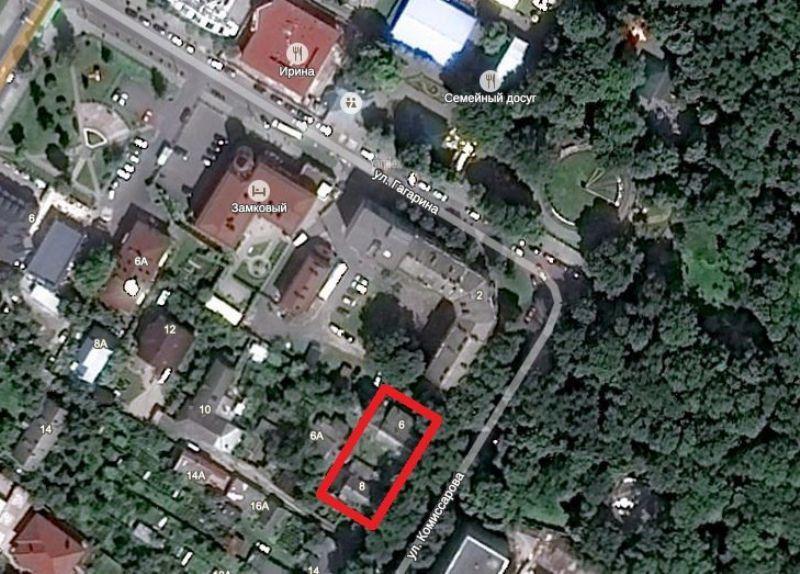 Предполагаемое место возведения дома в квадрате улиц Гагарина и Комиссарова