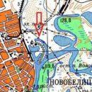 Володькино озеро на карте 1980 года.