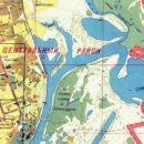 Володькино озеро на карте 1991 года.