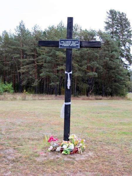 Мемориальный крест возле Щекотовского леса.