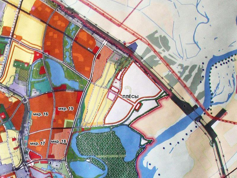 Генпланом предусмотрено освоение площадки около Плёсов.