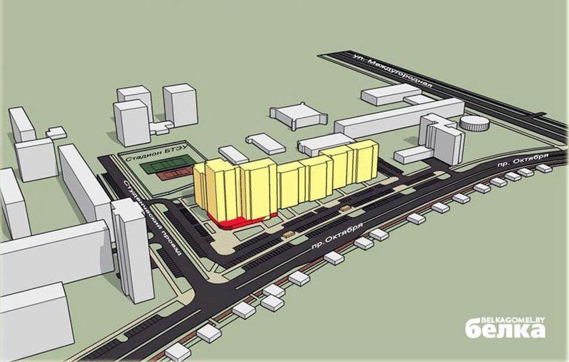 Проект реконструкции усадебной застройки на проспекте Октября.